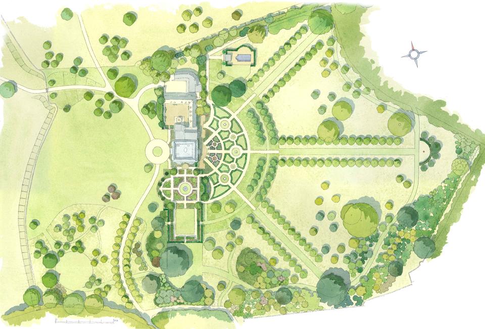 Williamstrip Watercolour Masterplan