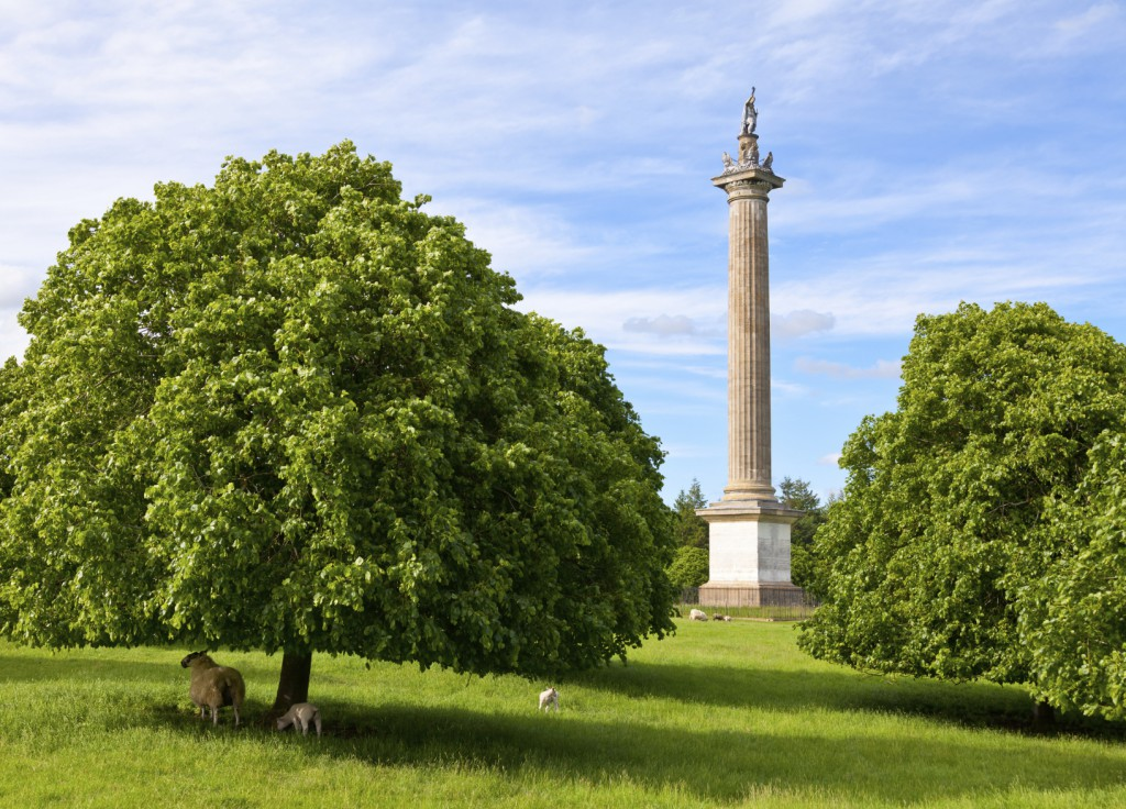 The Column of Victory in the Blenheim Palace Grounds, Oxfordshire, England